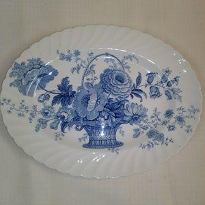 Royal Staffordshire Blue Floral Platter